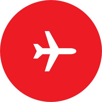 Icon: a plane.